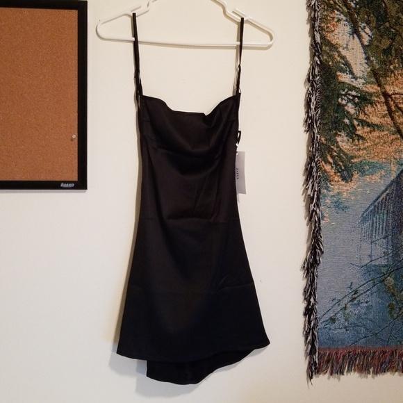 bb1b56f019b Backless Mini Slip Dress